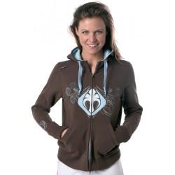 Maui Magic Zip Sweater Brown