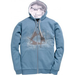 Mystic Star Hooded Zip Blue Shadow