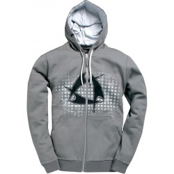 Mystic Star Hooded Zip Steel Grey